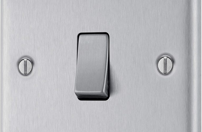 BG Electrical Switches, Easy Clean, Brushed Steel