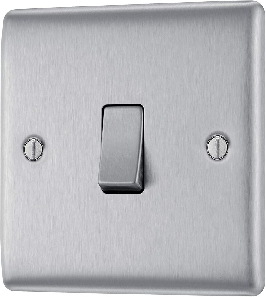 Electrical Switches, Brushed Steel